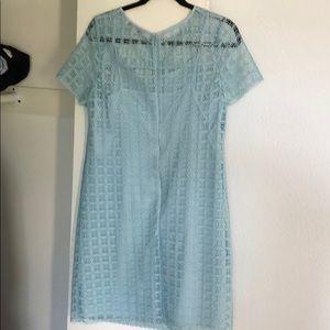 LOFT Dresses - LOFT blue lace dress